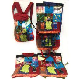 10 of Three Owls Tie Dye Cotton Handmade Backpacks