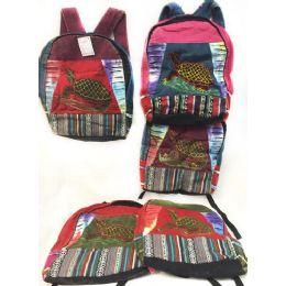 10 of Large Turtle Tie Dye Cotton Handmade Backpacks