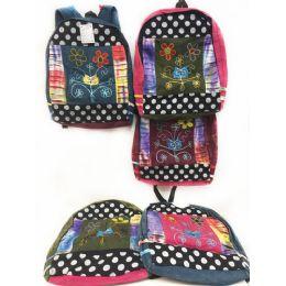 10 of Owl Head Flower Tie Dye Cotton Handmade Backpacks