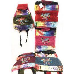 10 of Tie Dye Nepal Cotton Backpacks Bird On Branch