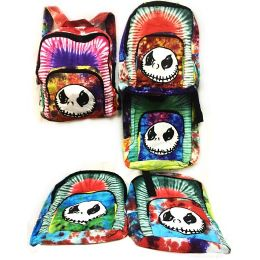 10 of Tie Dye Nepal Cotton Backpack With Skull Design