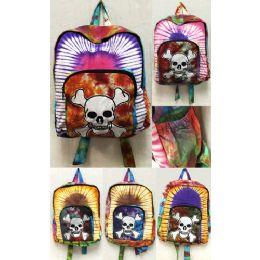10 of Jolly Roger Skeleton Head With Bones Tie Dye Backpacks