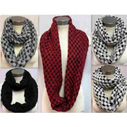 24 of Bicolor Knitted Infinity Scarves Style 157