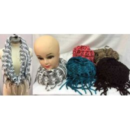 24 of MultI-Color Knitted Infinity Scarves