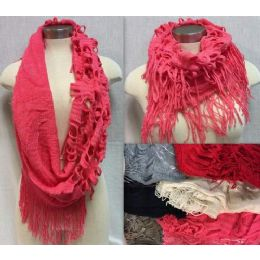 24 of Double Textured Infinity Knitted Scarves