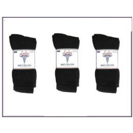 60 of Ladies Diabetic Crew 3 Pair Pack -Black Size 9-11