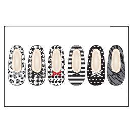 72 of Ladies Slipper Socks Wtih FuR-Blk/wht Pack Sizes S-M, M-L
