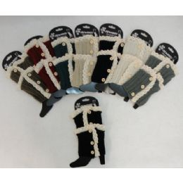 12 of Antique LacE-3 Buttons Knitted Boot Cuff