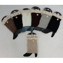 12 of Knitted Boot Cuffs 1 Button-Antique Lace