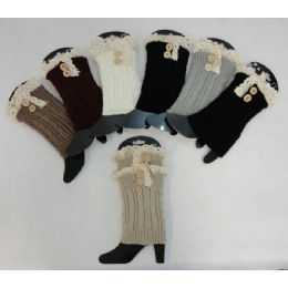 24 of Knitted Boot Cuffs [2 ButtonS-Antique Lace]