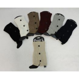 12 of Knitted Boot Cuffs 3 Buttons