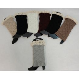 12 of Knitted Boot Cuffs [antique Lace]