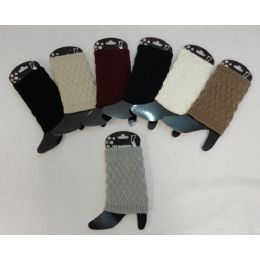 12 of Knitted Boot Cuffs [diamond Knit]