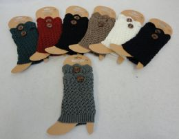 12 of Knitted Boot Cuffs With Large Button