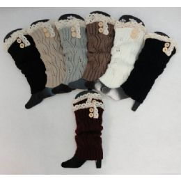 24 of Antique Lace Knitted Long Boot Cuffs