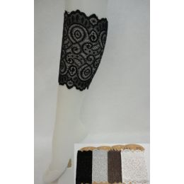 """24 of Lace Boot Cuffs [swirl] Assorted Colors. 6.5"""" Long."""