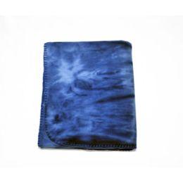 24 of Tie Dye Fleece Blanket 50x60 (blue)