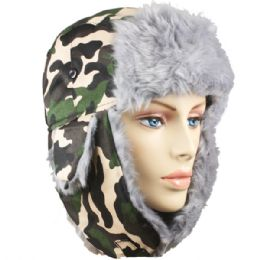 36 of Winter Army Pilot Hat With Faux Fur Lining And Strap