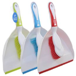 48 of Dust Pan W/ Brush Asst Colors