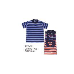 36 of Men's Stripe Polo Shirt