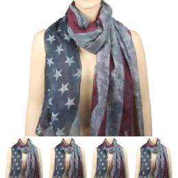 36 of Womens Fashionable Scarf Ameican Flag Style