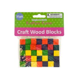 72 of Colored Wooden Craft Blocks