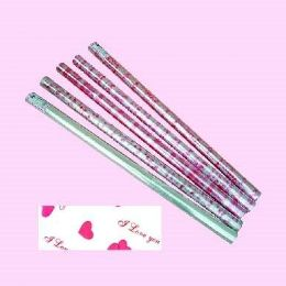 "12 of Valentines Cellophane Wrapping Paper 30"" X 100'"