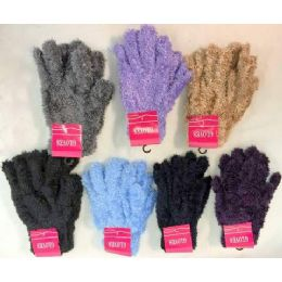 120 of Adult Unisex Fuzzy Glove Assorted Colors