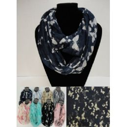 12 of Light Weight Infinity Scarf [butterflies]