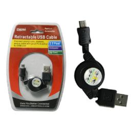 "96 of 30"" Retractable Usb Cable"