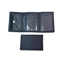 72 of Trifold Black Velcro Wallet
