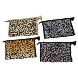 96 of Assorted Color Animal Print Cosmetic Bag