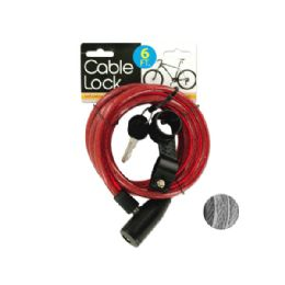 24 of Self Coiling Bicycle Cable Lock With Two Keys