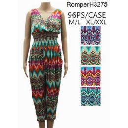 96 of Multicolor Chevron Pattern Romper Sets