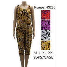 96 of Royal Floral Pattern Romper Sets