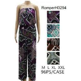96 of Geometric Pattern Tube Romper Sets