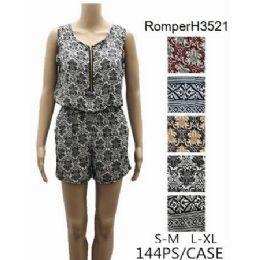 144 of Lady's Short Romper Sets