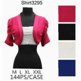 144 of Solid Color Short Sleeve Shawl Covers