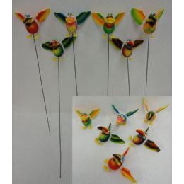 48 of Yard Stake [jumbo Tropical Birds With Springing Wings]