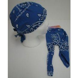 72 of Skull CaP-Royal Blue Paisley