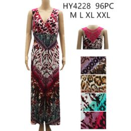 48 of Women's Fashion Romper Assorted Color Prints