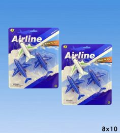 72 of 3pcs Airplanes In Blister Card