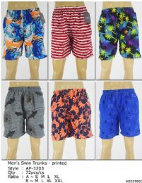 72 of Men's Assorted Printed Bathing Suit