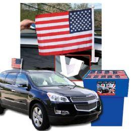 100 of Dsd - Usa Car Flags 100 Per Display