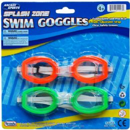 72 of Swimming Goggles Set In Blister Card For Kids