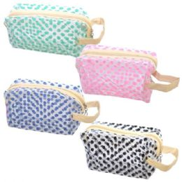 48 of Cosmetic Bag Assorted Colors Big