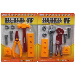 72 of 8pc Build It Tool Play Set In Blister Card