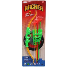 """72 of 13.5"""" Bow & Soft Dart Arrows Play Set, In Blister Card"""