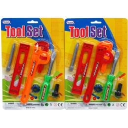 72 of 6pc Tool Play Set In Blister Card, Assorted