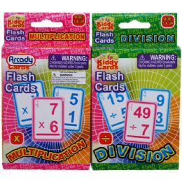 72 of 27 Learning Flash Cards(x & / ) 2asst. In Peg Able Color Box